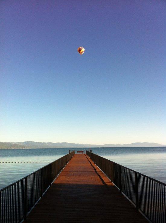 Hot Air Balloon Lake Tahoe Art Print
