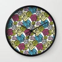 Bold roses Wall Clock