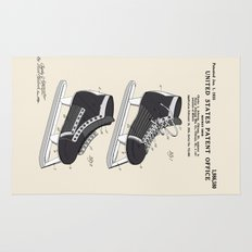 Hockey Skate Patent Rug