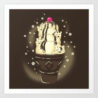 Ice-Cream Bears Art Print