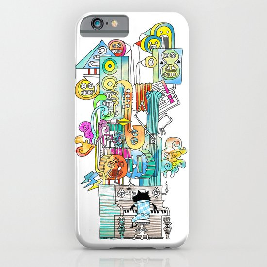 one man band (the jazz cat) iPhone & iPod Case