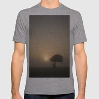 Tree in the Fog Mens Fitted Tee Athletic Grey SMALL