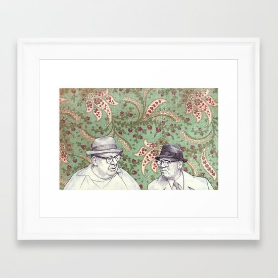 Old Men Framed Art Print