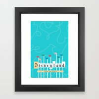 Park Entrance | Disney inspired Framed Art Print