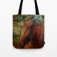Textured Horse  Tote Bag