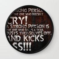 KICK ASS! Wall Clock