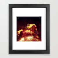 Fire Horse Framed Art Print