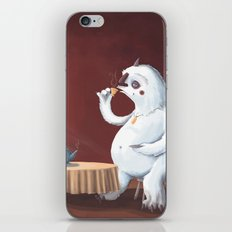 the yeti came for tea iPhone & iPod Skin