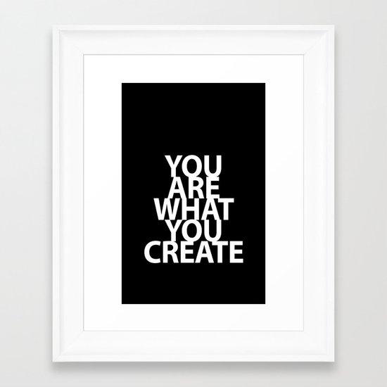 Create Case Framed Art Print