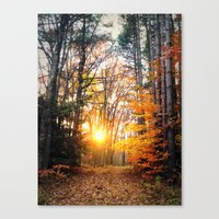 The Burning Canvas Print
