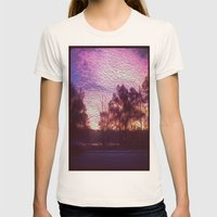 Pink Sunrise Womens Fitted Tee Natural SMALL
