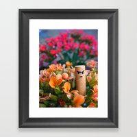 I Am A Flower Framed Art Print
