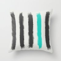 Paint Strokes  Throw Pillow