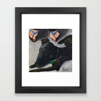 Under The Table Framed Art Print