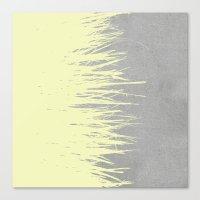 Concrete Fringe Yellow Canvas Print