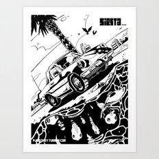 Siesta Beach Art Print