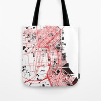 San Francisco Noise Map Tote Bag