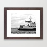 Pacific Northwest Ferry Framed Art Print
