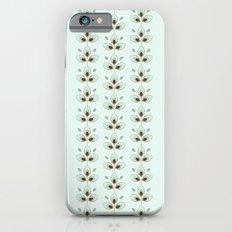 Mint Blossoms Slim Case iPhone 6s