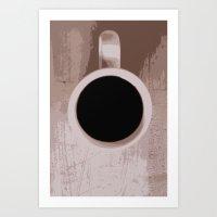 Coffee Down Art Print
