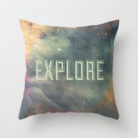 Explore III Throw Pillow