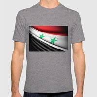 Flag Of Syria Mens Fitted Tee Tri-Grey SMALL