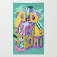 Yellow House Rug