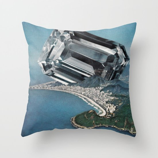 Costa Del Diamante Throw Pillow