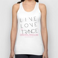 Live Love and Trance / Dreamland138 Mix Podcast Unisex Tank Top