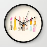 Lipstick #2 Wall Clock