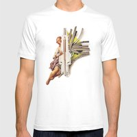 Sparklette | Collage Mens Fitted Tee White SMALL