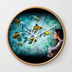 Ocean Deep Dreaming Wall Clock
