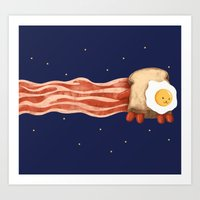 Nyan Bacon Art Print
