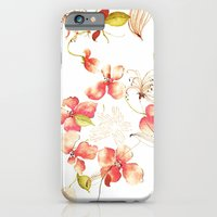 iPhone & iPod Case featuring VINTAGE FLOWERS XXX - for iphone by Simone Morana Cyla