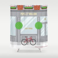 Pinwhistle Way Faccade Shower Curtain