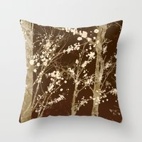 Make it Through (woodland brown edition) Throw Pillow