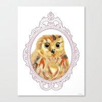 A Portrait of an Owl Canvas Print