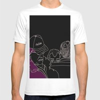 Waiting... Mens Fitted Tee White SMALL