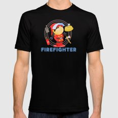 Firefighter Black Mens Fitted Tee SMALL