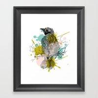 Out Bird Framed Art Print