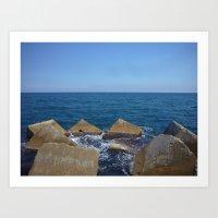 Barcelona - Espigo de la Mar Bella Art Print
