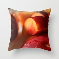 Plums For Breakfast Throw Pillow