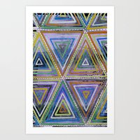 Triangling Art Print