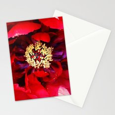 Red Peony Stationery Cards