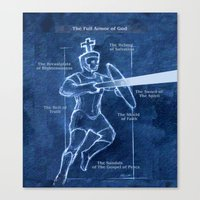 Full Armor of God - Warrior 3 Canvas Print