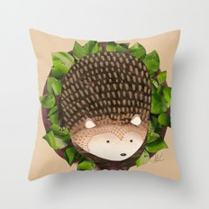 Paper Hedgehog Throw Pillow
