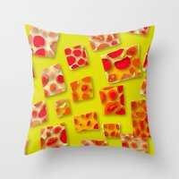 red spotted rectangles Throw Pillow