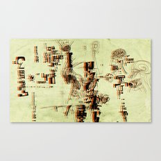 Illustration Mashup Canvas Print