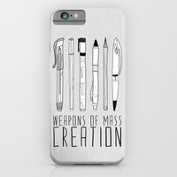 black iPhone & iPod Cases featuring weapons of mass creation by Bianca Green