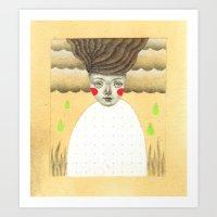 Green Rain Art Print